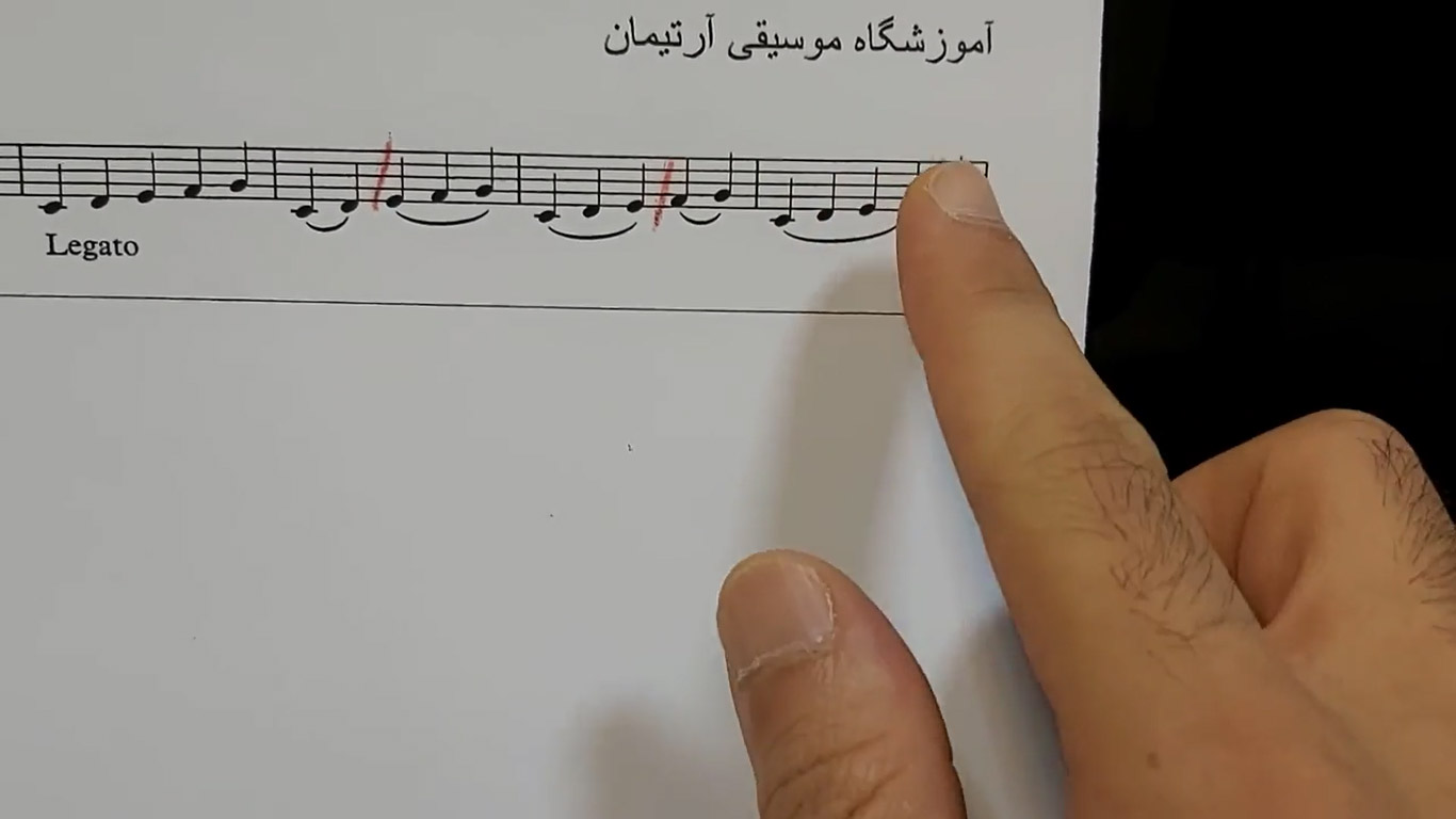خط اتصال در پیانو